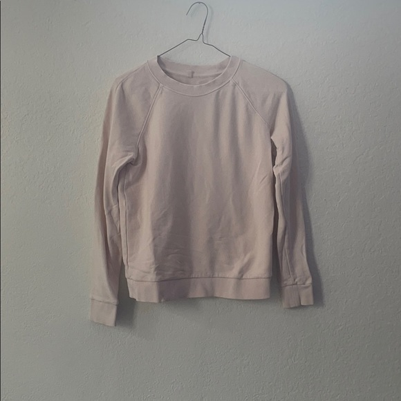 lou and gray light pink crew neck